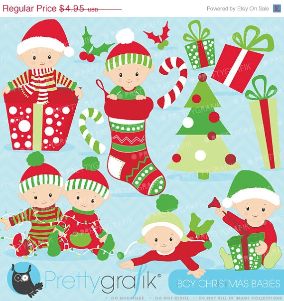 8 Christmas Baby Vector Images