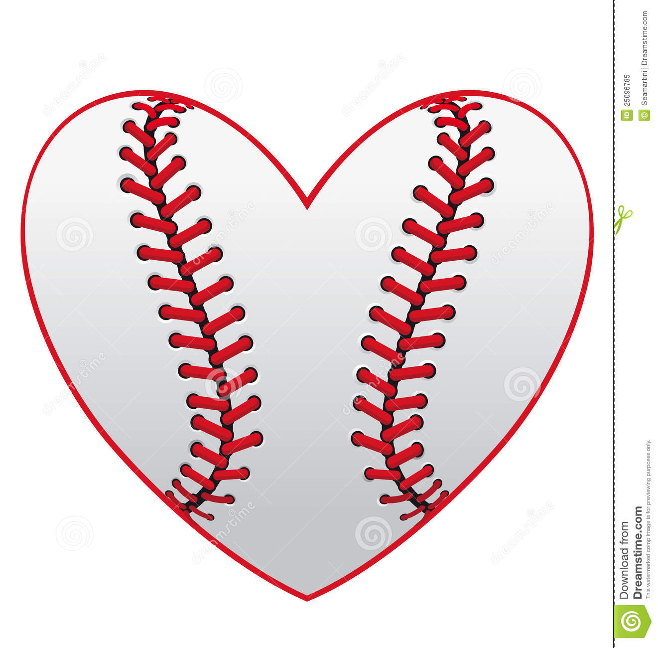 11 Baseball Heart Vector Images