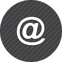 Black and White Email Icon