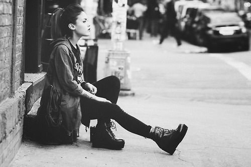 Black and White Photography Grunge Model