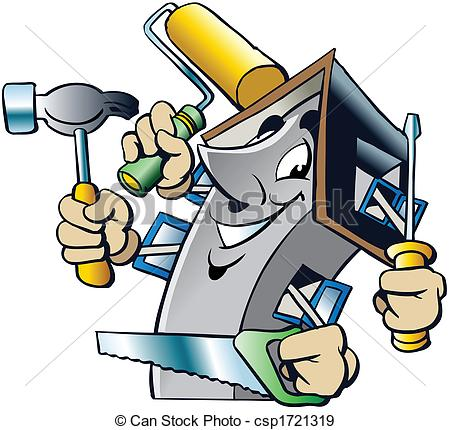 Building Maintenance Man Clip Art