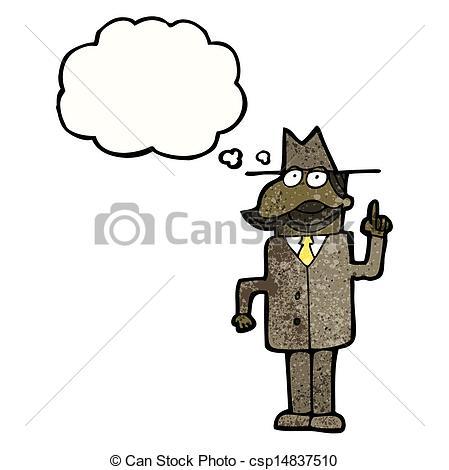 Cartoon Detective Clip Art