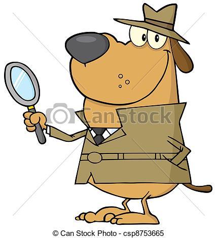 Cartoon Detective Dog