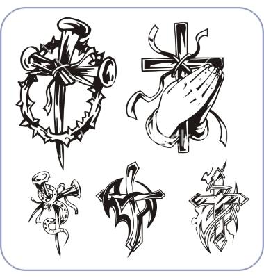 Christian Religious Symbols Vectors