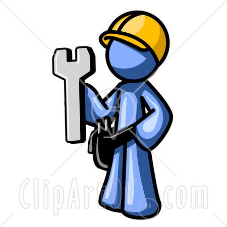 Construction Man Icon Clip Art