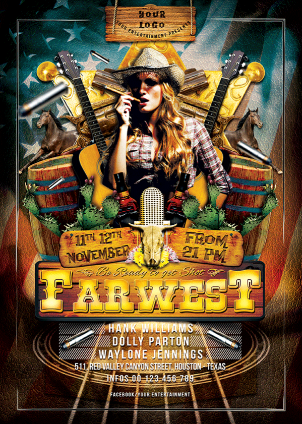 19 Country Party Flyer PSD Template Images