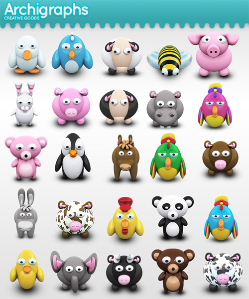 Cute Animal Icon Free