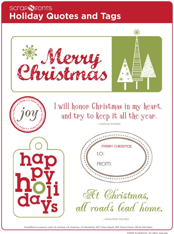 Cute Quotes and Fonts for Christmas