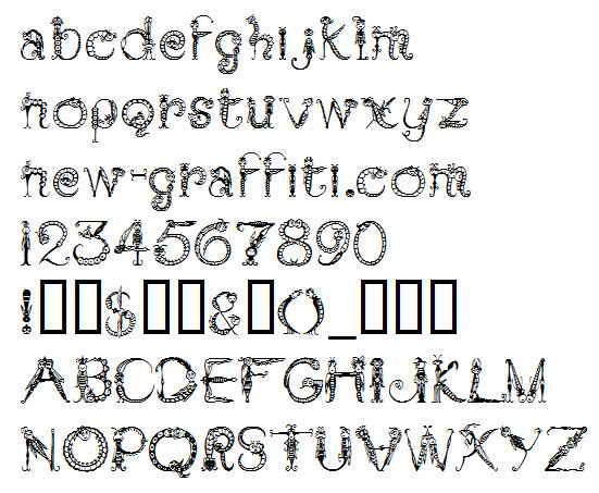 Decorative Font Styles Alphabet
