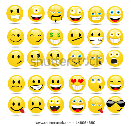 12 Japanese Emoticon Vector Images Funny Smiley Faces