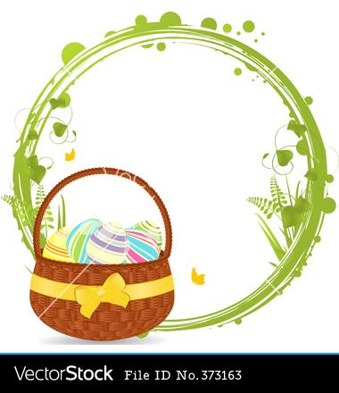 Easter Basket Clip Art Border