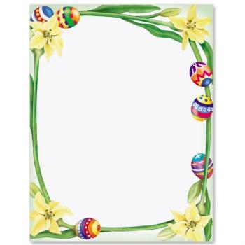 Easter Border Paper Printable