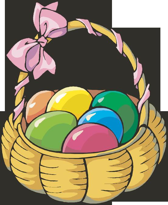 Easter Egg Basket Clip Art Free
