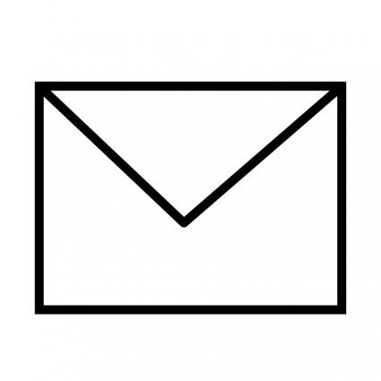 Envelope Clip Art Black and White