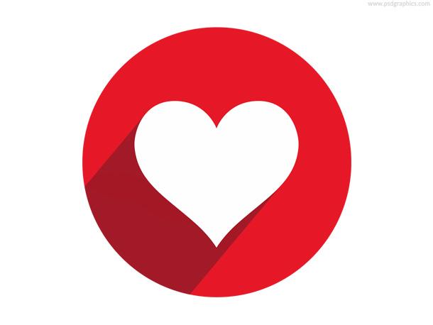 Flat Heart Icon