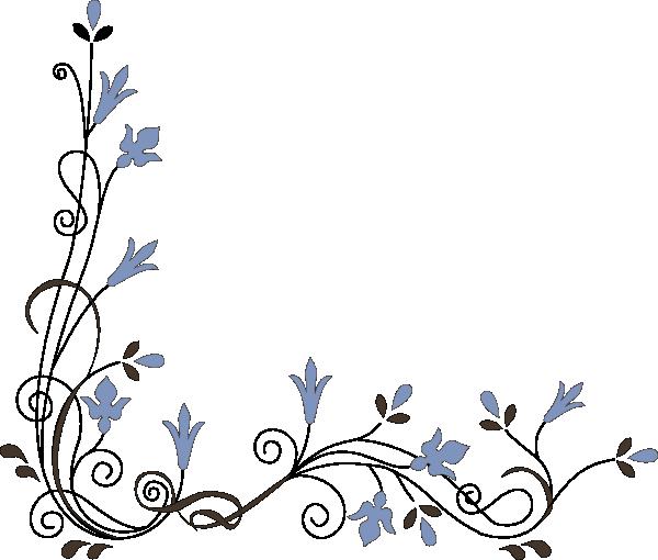 Flower Corner Border Clip Art