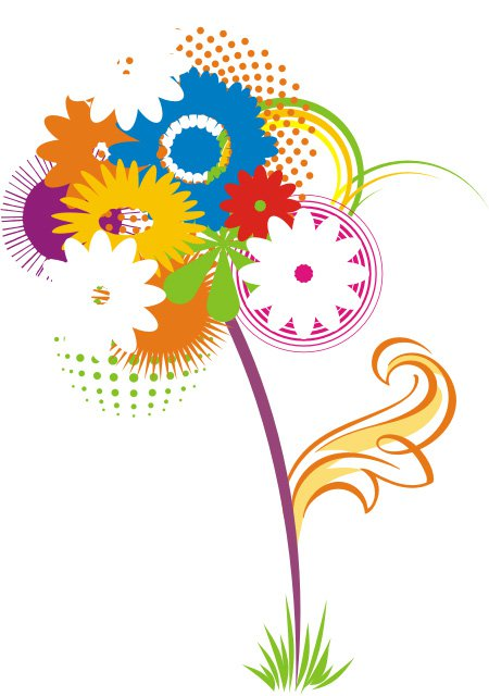 19 Flower Vector Files Images
