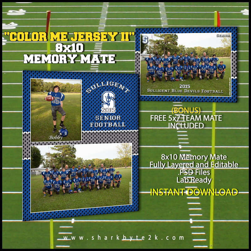 Football Memory Mate Templates for Photoshop