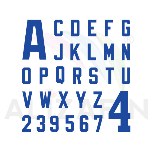 Football Numbers Font