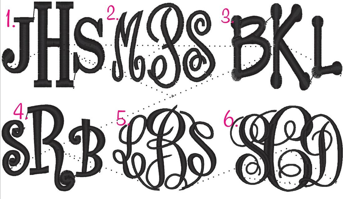 Free 3 Letter Monogram Fonts