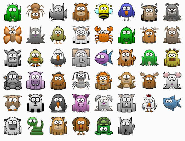 14 Free Animated Animal Icons Images