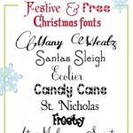 Free Christmas Clip Art and Fonts