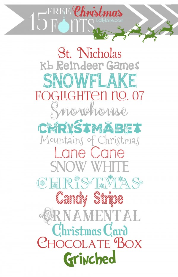 17 Cute Christmas Fonts Images