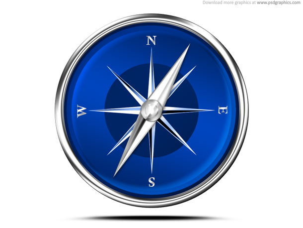 12 Red And Blue Compass Icon Images