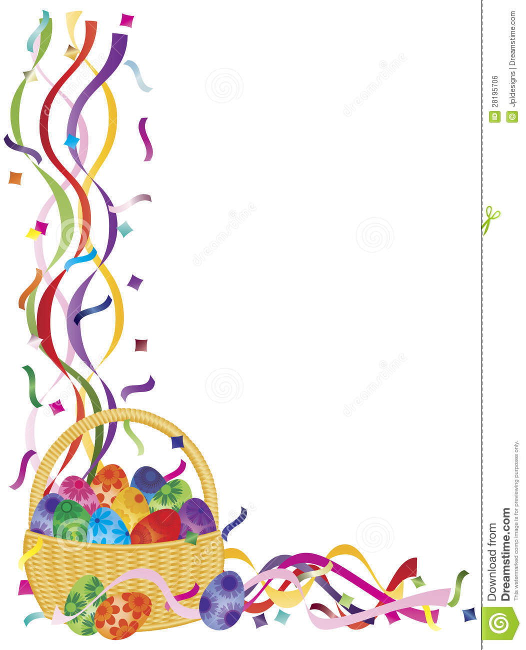 15 Easter Basket Border Graphics Images
