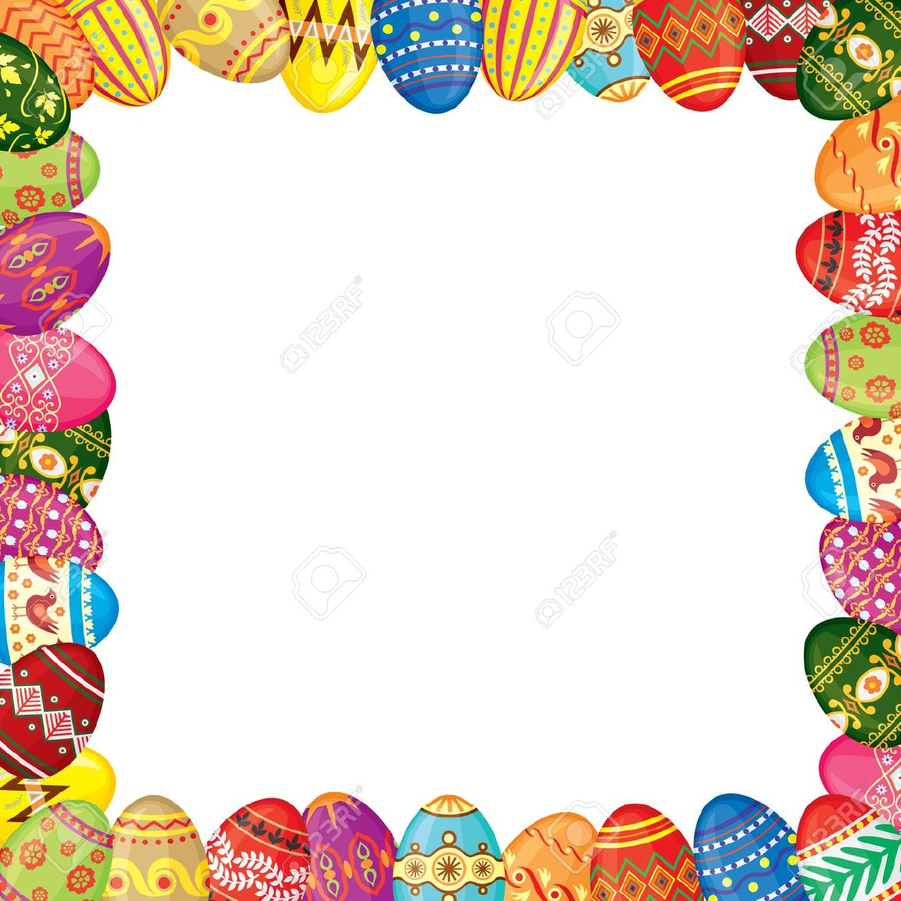 Free Easter Egg Borders and Frames