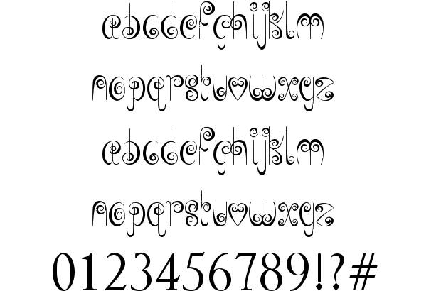 Free Fonts with Swirls