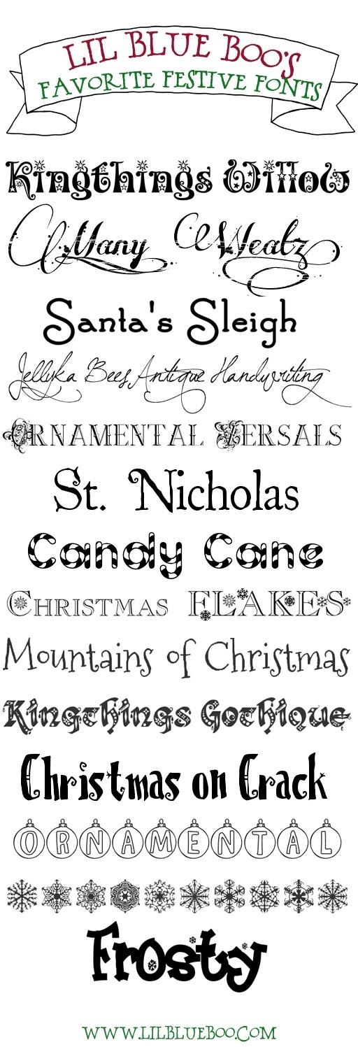 Free Holiday Fonts Christmas