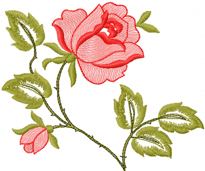 Free Machine Embroidery Design Roses