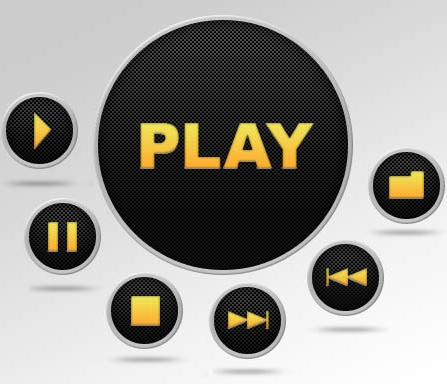 11 Media Player Button Icons PSD Pics Images