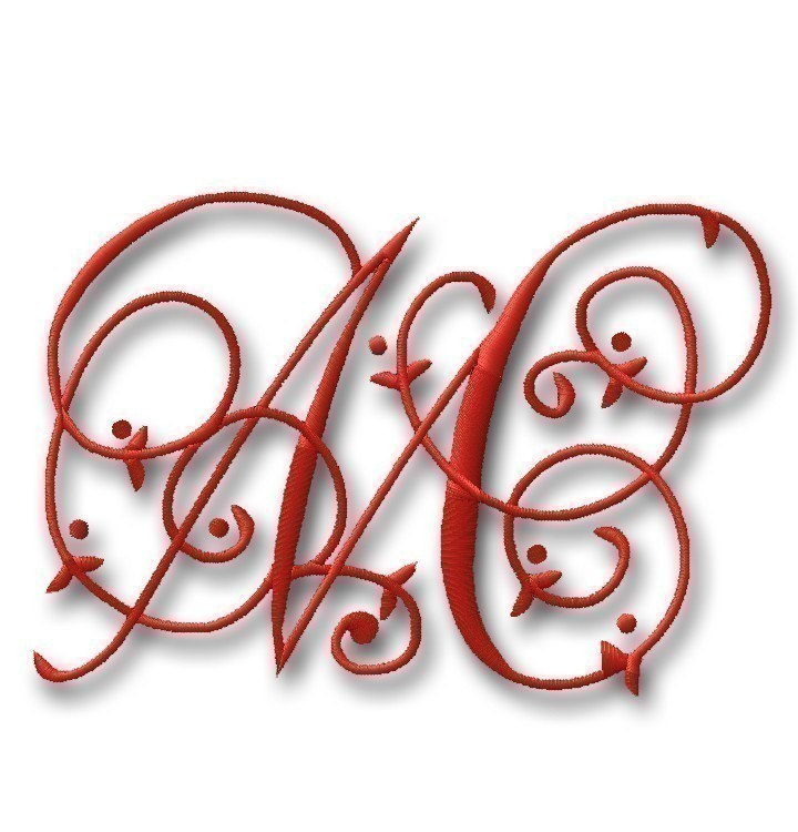 11 Free Embroidery Monogram Fonts Images Free Monogram Embroidery