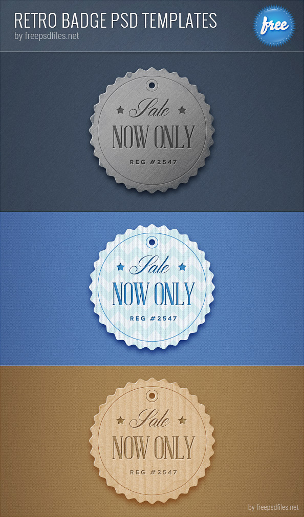 13 Free Retro Badges PSD Images