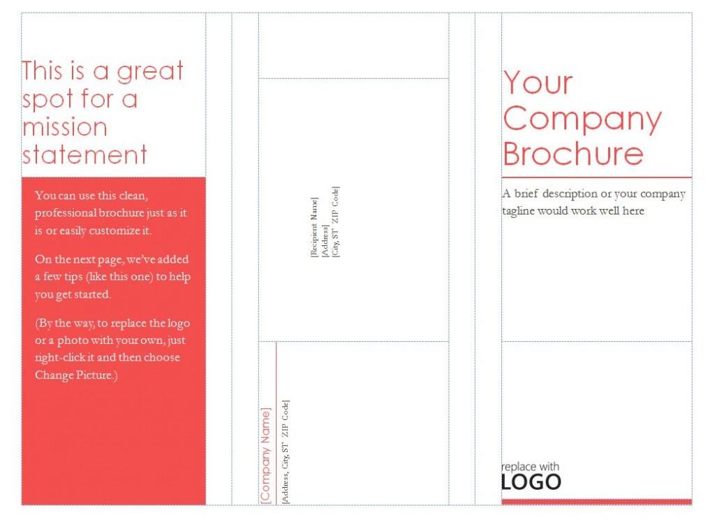 Free Tri-Fold Brochure Templates