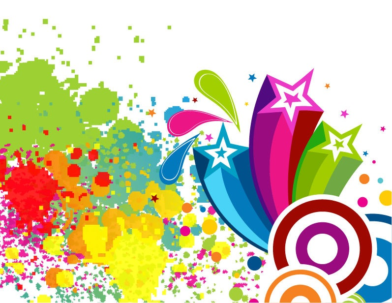 18 Free Colorful Vector Graphics Images