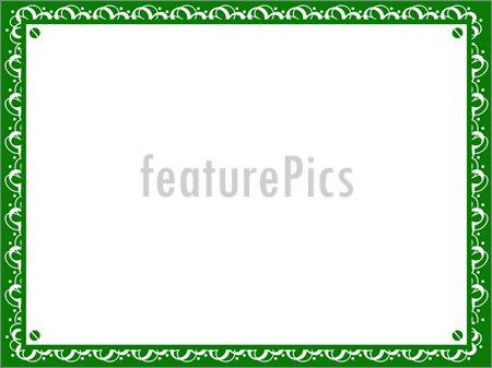 14 Borders Vector Green Certificate Images