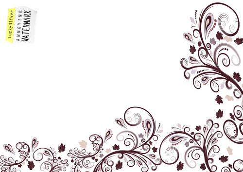 14 Vector Floral Border Designs Images