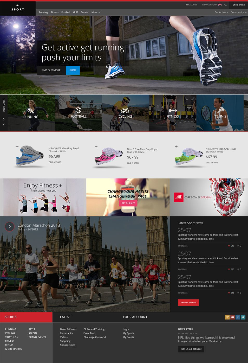 17 Free Sports Templates Psd Images