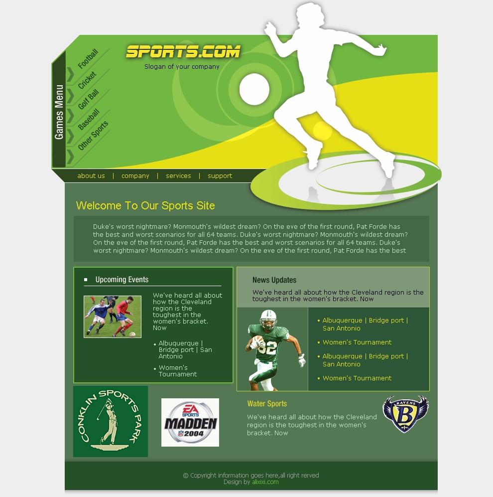 sport templates