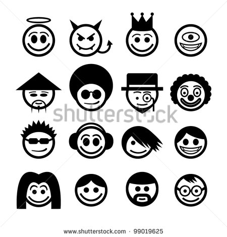 12 Japanese Emoticon Vector Images