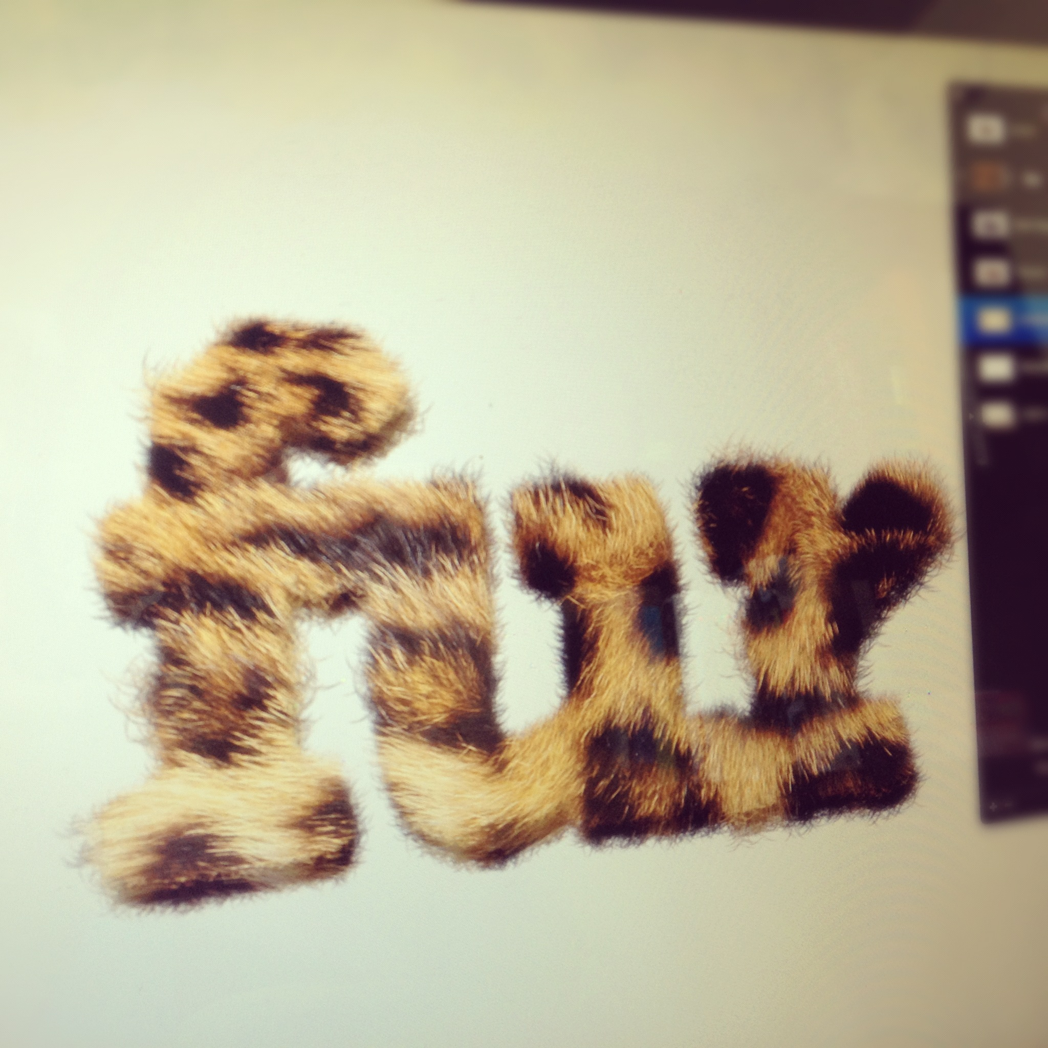 Furry Text Photoshop