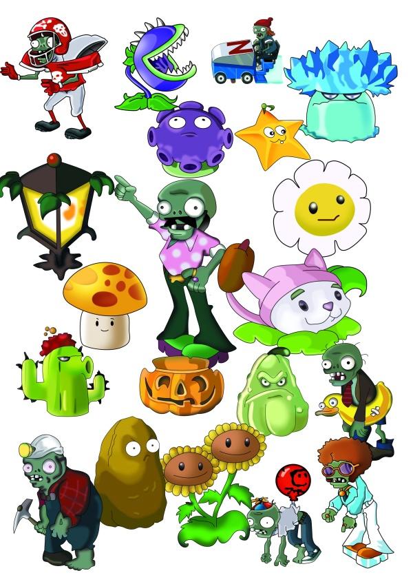 6 PSD Cartoon Zombie Pics Images