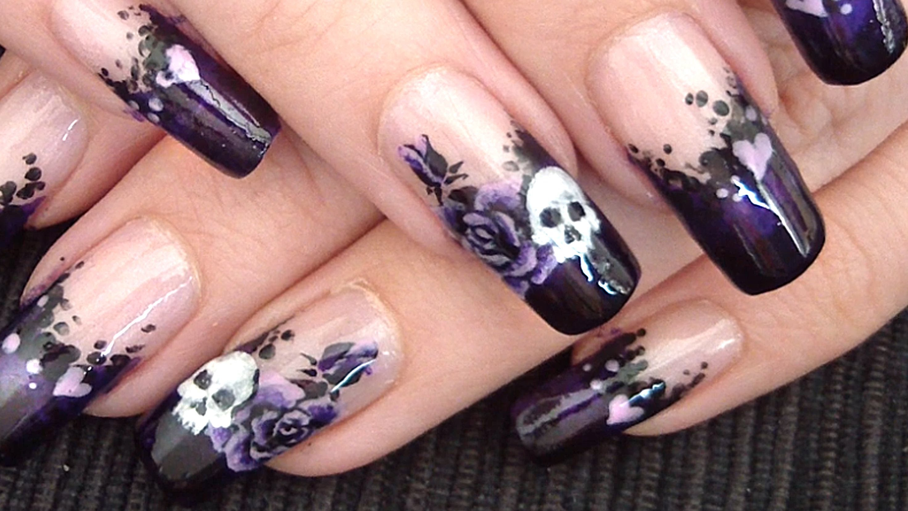 9 Gothic Nail Designs Images
