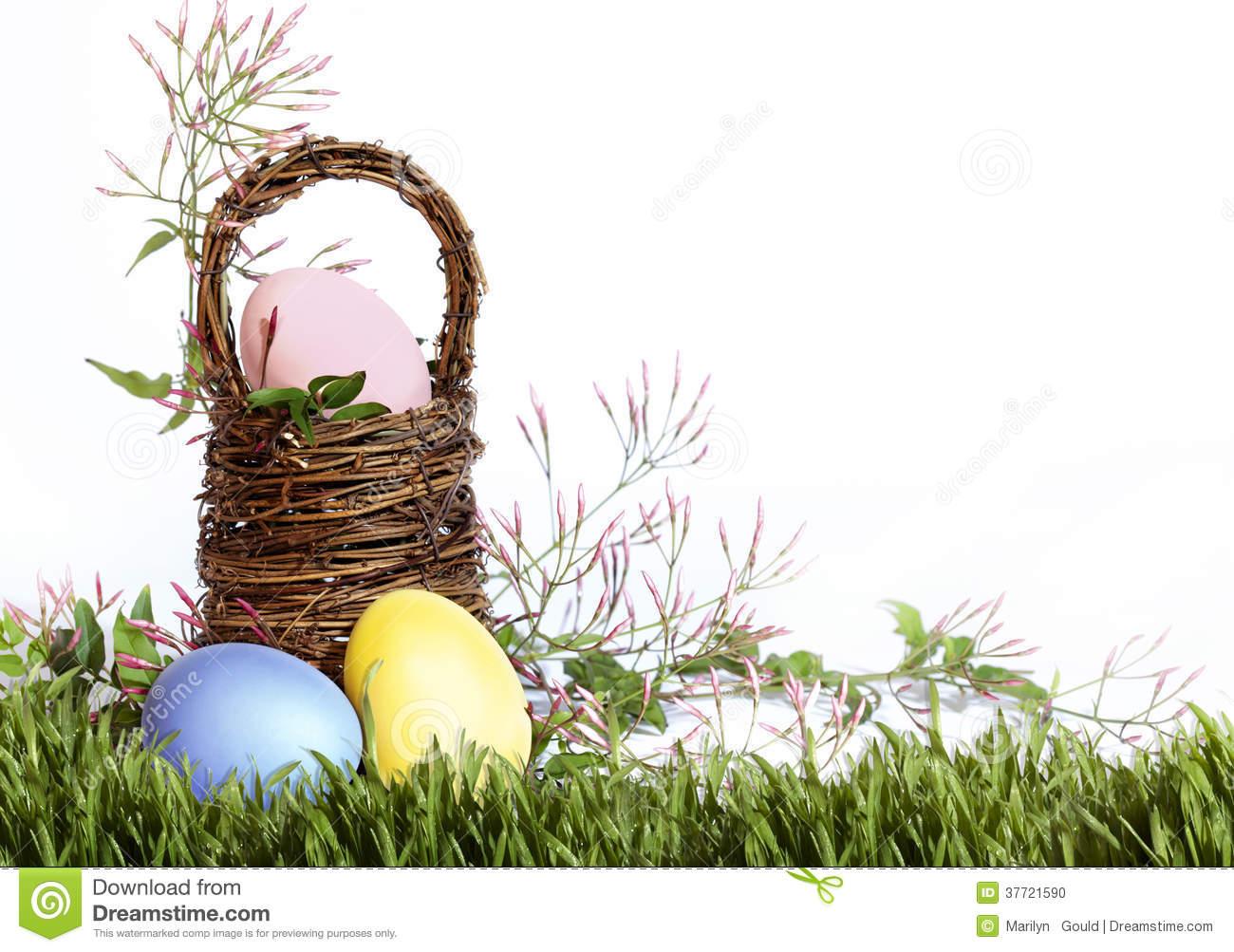 Grass and Easter Egg Border