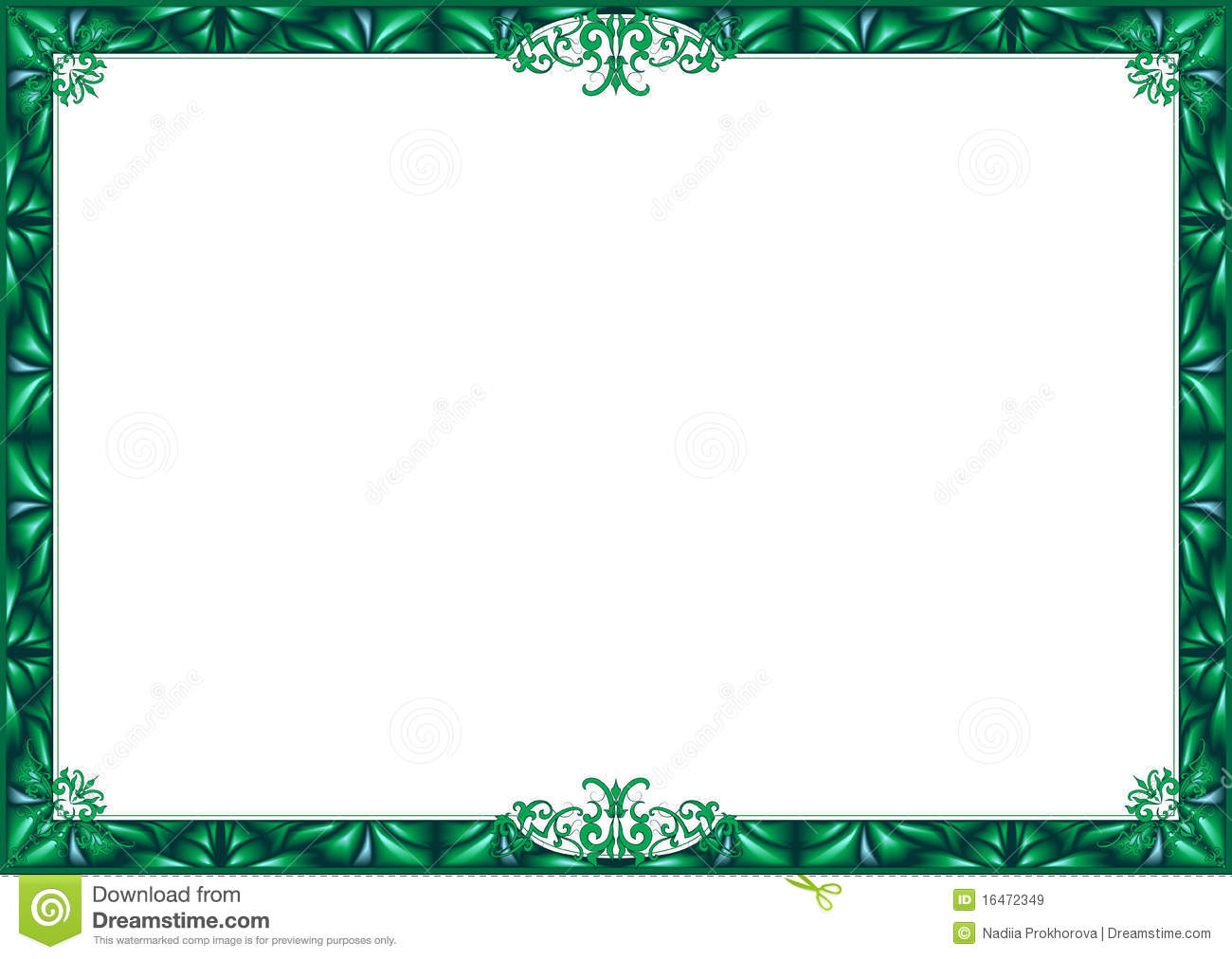 14 borders vector green certificate images free vector for Certificate borders and frames