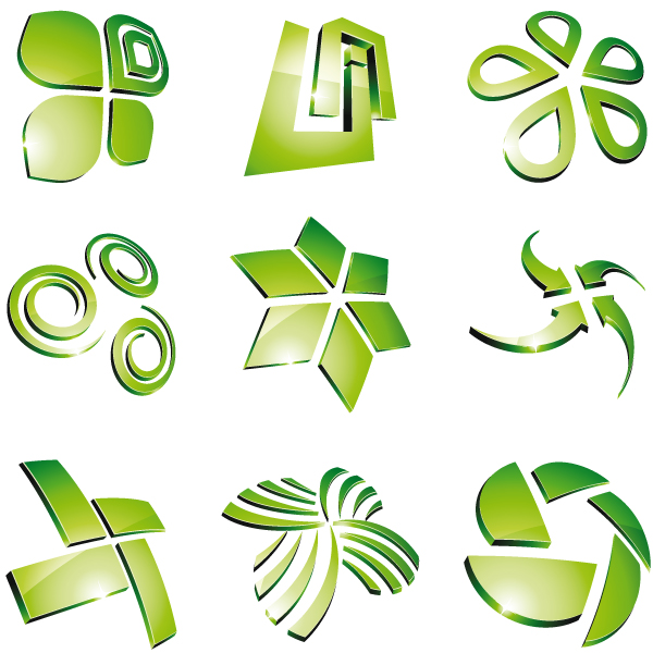 11 green logo design images companies with green logos for Create logo online free 3d