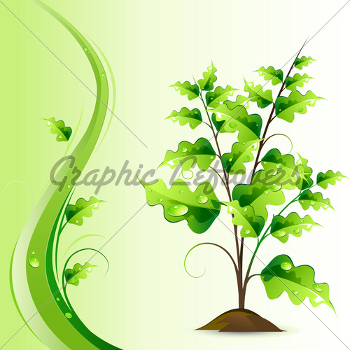 Growing Tree Graphic Illustration